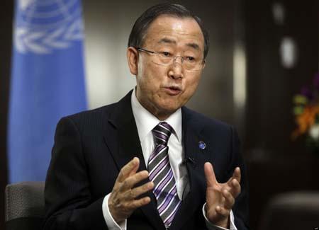 """Ban Ki-moon, llamó """"a todas las partes en Ucrania y aquellos con influencia a evitar cualquier paso que pueda aumentar más las tensiones"""" y pidió un """"diálogo nacional"""" para resolver la crisis"""