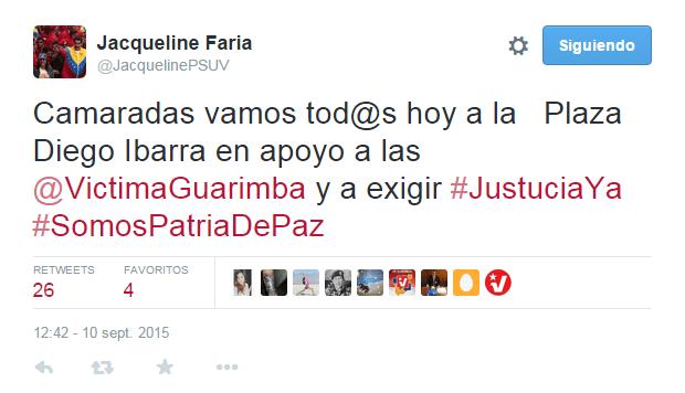 Tuit Jacqueline Faria