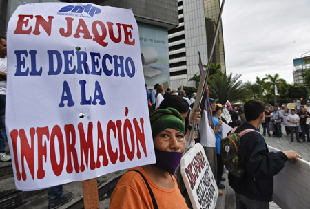 VENEZUELA-MEDIA-PROTEST