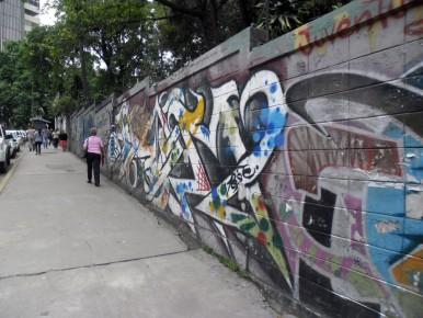 Graffitis se evidencian en las paredes de la localidad