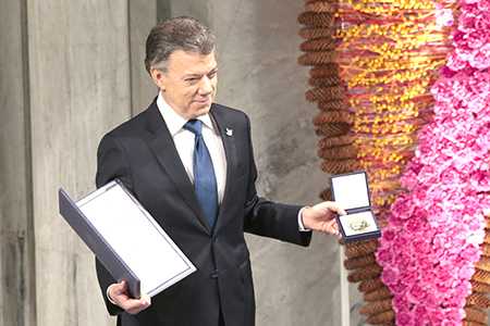 NORWAY-COLOMBIA-NOBEL-PEACE-PRIZE-AWARD