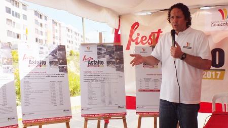 El alcalde Garcés realizó el lanzamiento oficial del plan desde el Urbanismo El Chorrito donde mil familias se beneficiarán con la recuperación de la vialidad