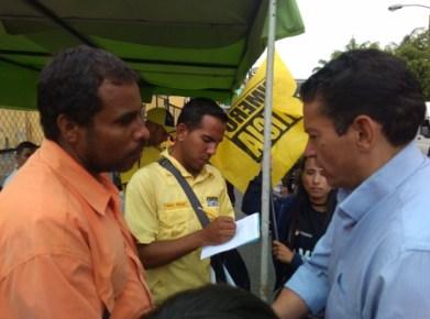 El coordinador de la tolda Roberto Rojas recordó la importancia de legitimar al partido que desde hace 17 años emprende una lucha por el rescate de los derechos ciudadanos.
