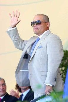 Rodríguez se vio muy emocionado en la ceremonia Mike Stobe / AFP