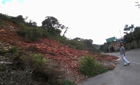 Deslizamientos que cubren canales completos de la Panamericana sin que ninguna autoridad los retiere.