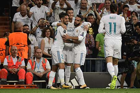 El portugués volvió al Real Madrid para marcar doblete Pierre-Philippe Marcou / AFP