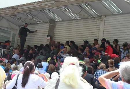 La tensión y agresión ameritaron la presencia de uniformados de la Guardia Nacional