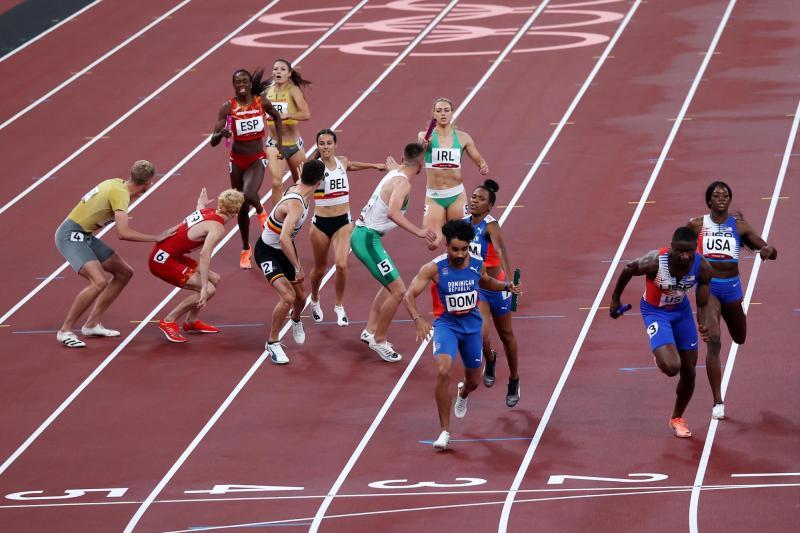 Dominicana gana apelación en atletismo y avanza a la final del relevo 4x400  en Tokio 2020