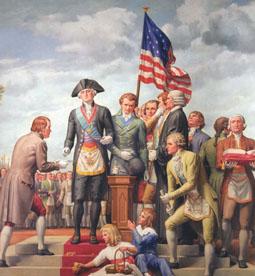 Washington coloca piedra angular capitolio