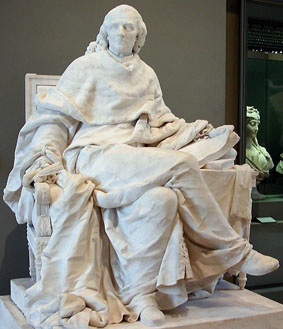 Estatua de Montesquieu en el Museo del Louvre