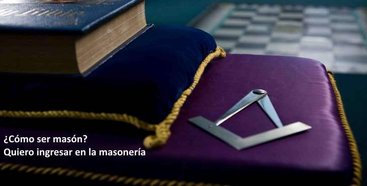 El ingreso a la masonería