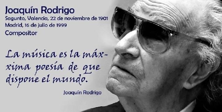 """Efemérides: Joaquín Rodrigo, compositor del """"Concierto de Aranjuez"""""""