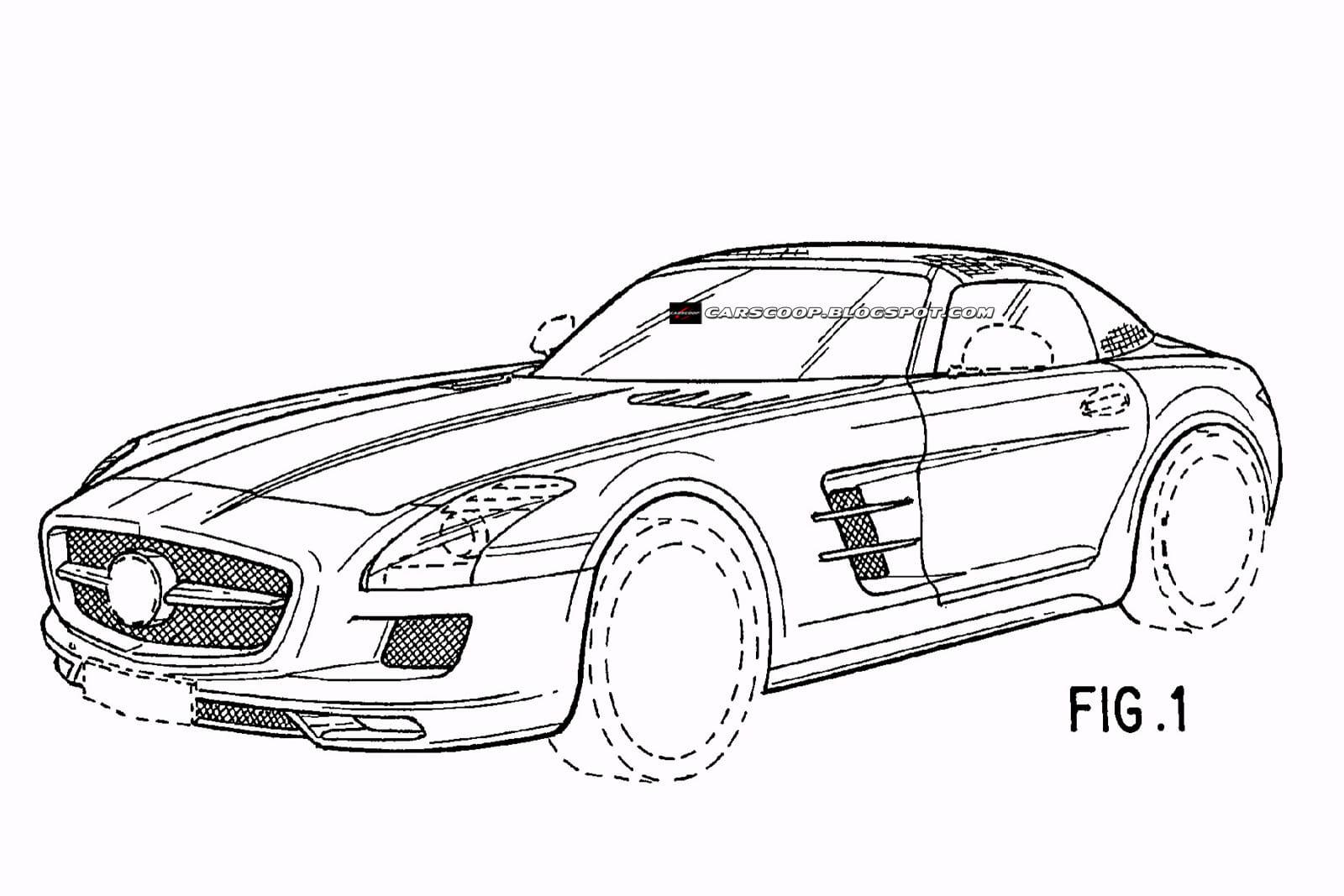 Mercedes Sls Amg Roadster Bocetos De Diseno Foto 11 De 12