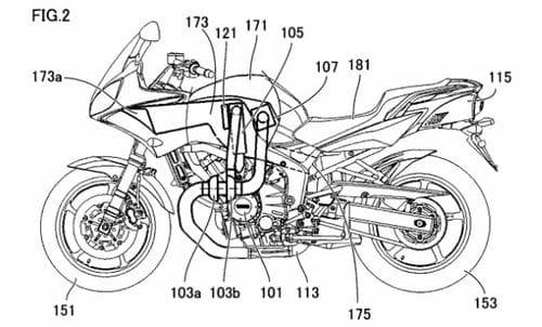 Yamaha registra varias patentes para una moto turbodiésel