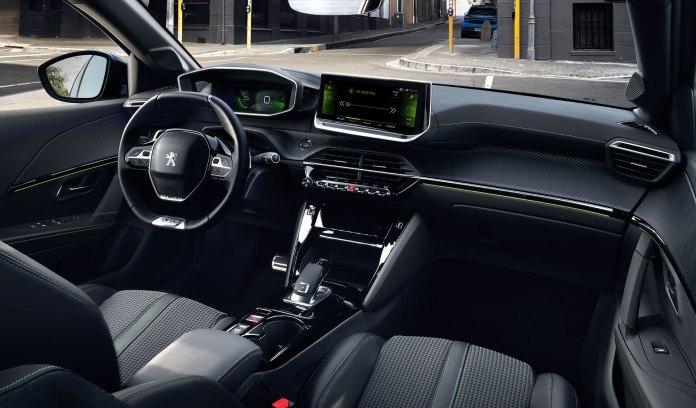 Peugeot E 208 2019 Azul Interior 04