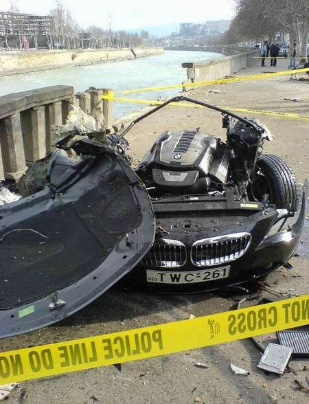 Espeluznante accidente de un BMW Serie 6