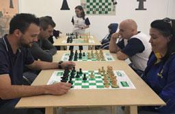 Atrium Shopping tem espaço para jogadores de xadrez