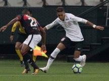 O Corinthians, de Pedrinho, empatou sem gols com o Vitória no primeiro turno. Foto: Daniel Augusto Jr./Agência Corinthians