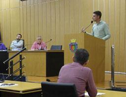 Deputado estadual eleito, Thiago Auricchio visita a Câmara de São Caetano