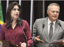 Simone Tebet disputará indicação com Renan Calheiros. Fotos: Agência Senado