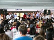 Cerimônia de inauguração contou com mais de 1.000 pessoas, entre alunos, pais e autoridades municipais. Foto: Divulgação/PMSCS
