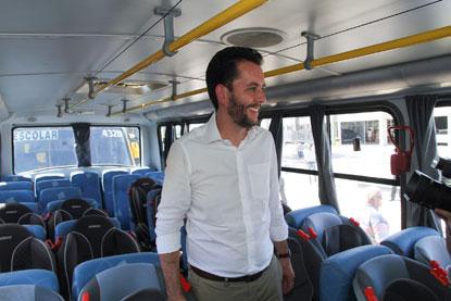 Santo André renova frota de veículos do transporte escolar e passa a beneficiar mais crianças