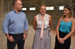 Kiko, Carla e Flávia visitaram as obras do Hospital Municipal. Foto: Mariana Rodrigues/Divulgação