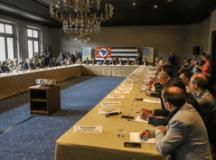 Durante a reunião também foi apresentado o molde de concessão do transporte coletivo intermunicipal. Foto: Divulgação/GESP