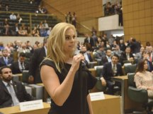 Carla discursou em defesa de um Estado mais enxuto. Foto: Divulgação