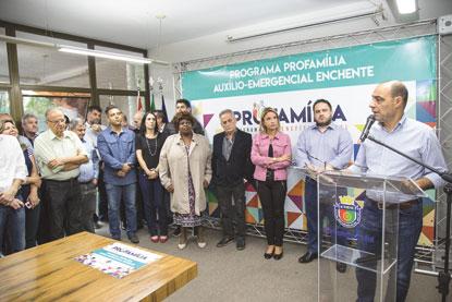 S.Caetano concede R$ 11 mi em benefícios a vítimas de enchentes