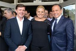 Nova líder do PSDB na Alesp, Carla Morando teve primeira agenda pública com o governador em São Bernardo