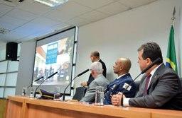 secretário de Defesa Social de Diadema, Paulo Alexandre Fagundes, apresentou na Assembleia Legislativa o projeto de lei. Foto: Adriana Horvath/PMD