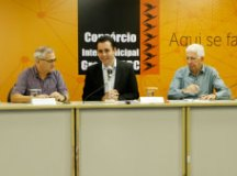 Garcia, Paulo Serra e Edgard Brandão: iniciativa inédita. Foto: Helber Aggio/PSA