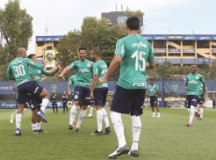 Jogadores treinaram, ontem, no CT do Boca Juniors. Foto: Cesar Greco/Agência Palmeiras