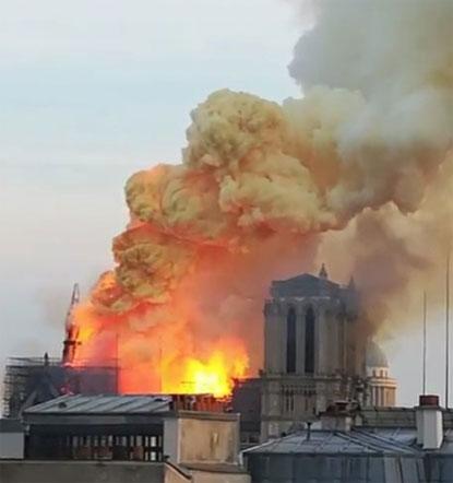 Resultado de imagem para Notre Dame de Paris incêndio