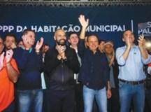 """""""É a primeira PPP de Habitação municipal do Brasil"""", disse  Doria. Foto: Divulgação/ Governo de SP"""