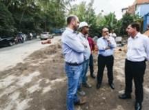 Em São Bernardo, obra de recapeamento da Estrada Cama Patente entra na reta final
