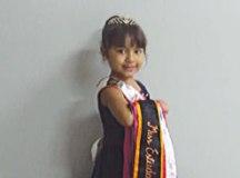 Pequena miss desfila desde os 3 anos. Foto: Angelica Richter especial para o DR