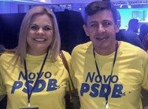 Carla e Orlando Morando durante executiva tucana em Brasília. Foto: Divulgação