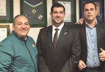 Pretinho, Leite e Salek, durante reunião em Brasília esta semana. Foto: Divulgação