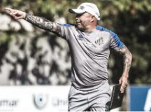 Sampaoli implementou novos treinos durante intertemporada. Foto: Ivan Storti/Santos FC