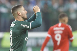 Palmeiras bate Inter e abre vantagem na Copa do Brasil
