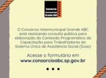 Consórcio ABC abre consulta pública para capacitação sobre Sistema Único de Assistência Social