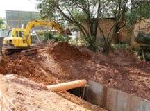 Obras de canalização de trecho do córrego Guarará entram na fase final