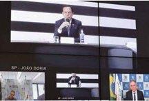 Reunião com governadores do Sudeste tem bate-boca entre Bolsonaro e Doria