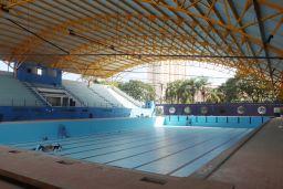 Obras de modernização da piscina olímpica do Complexo Pedro Dell'Antonia chegam à fase final