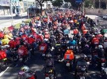 Motoboys realizam ato tímido nas ruas da Capital