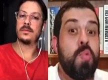 Esposa de Fábio Porchat aparece nua em live do humorista com Guilherme Boulos