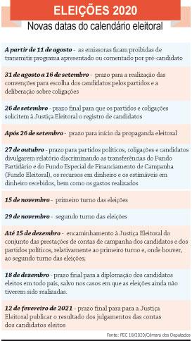 Câmara Federal aprova e eleições deste ano serão realizadas em 15 e 29 de novembro