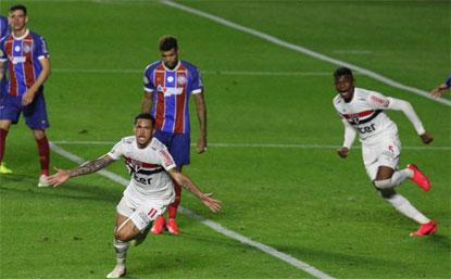 Com gol do estreante Luciano, São Paulo empata com o Bahia